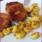 {Herzhaft} Auberginenschnitzel mit Shrimps