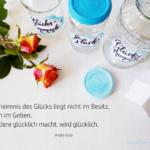 {DIY} Schöne Momente festhalten – Glücksmomente-Gläser