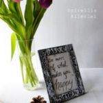 {DIY} Lettering im Rahmen – Motiviert euch mal