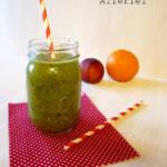 {Getränke} Grüner Smoothie mit Feldsalat und O-saft und die Gewinner
