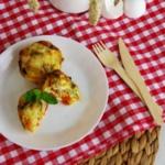 {Herzhaft} Gemüse-Muffins mit Käse überbacken