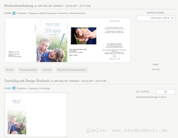 Einladungen-Heirat-Bestellung