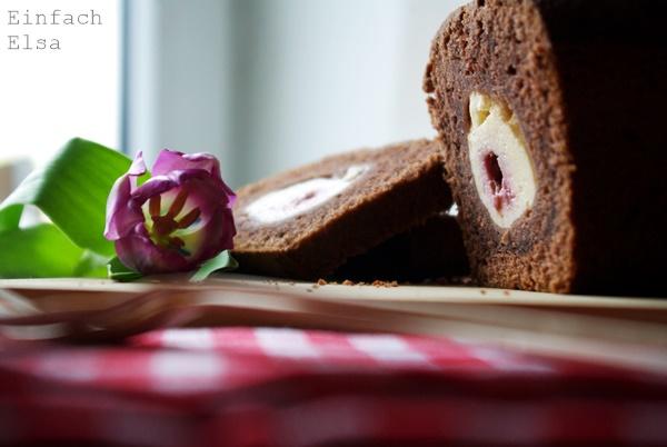 Schokoladen-Himbeer-Quark-Kuchen