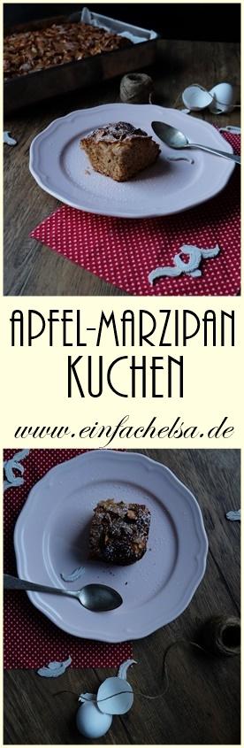 Apfel-Marzipan-Kuchen mit Vollkornmehl
