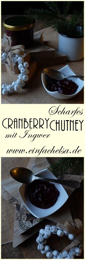 Cranberry Chutney mit Ingwer und Chili - perfekt zum Weihnachtsessen