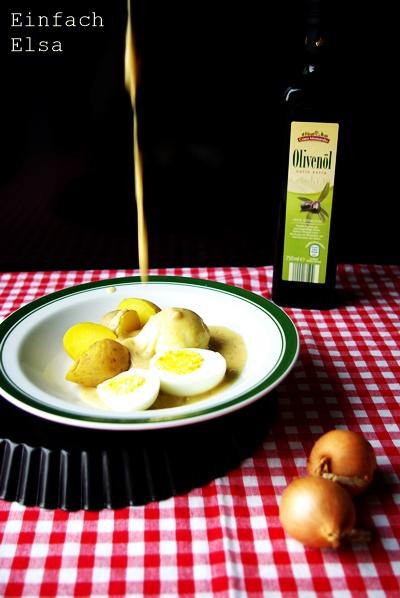 Schnell und einfach Eier in Senfsoße