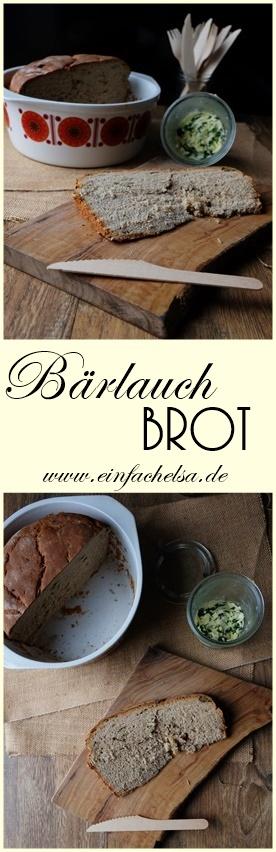 Einfaches Bärlauch Brot selbstgemacht mit natürlichen Zutaten der Saison