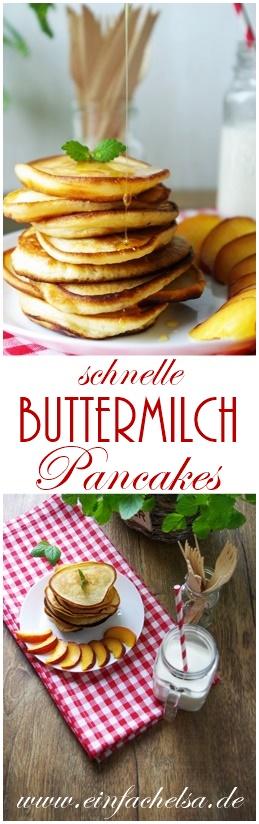 Handgemachte Buttermilch Pancakes ohne viele Zutaten ganz einfach und schnell