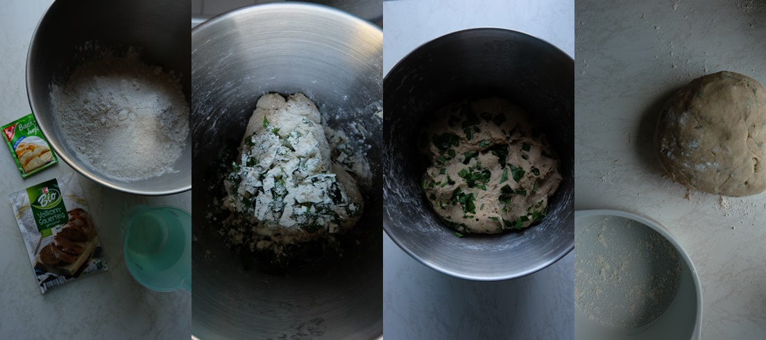 Herstellung-Bärlauch-Brot