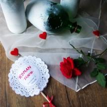 Hochzeit-Tischdekoration-Weinflaschen-Untersetzer-Spitze
