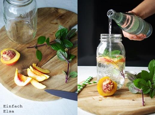 Infused-water-nektarine-basilikum