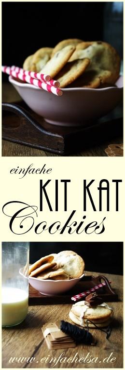 KitKat Cookies selbst gemacht - leckere Kekse mit Kit Kat Riegel im inneren - einfache und schnelle Cookies