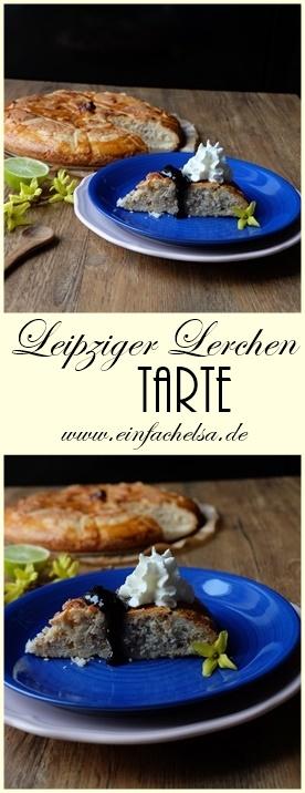 Leipziger Lerchen Tarte mit Heidelbeermarmelade