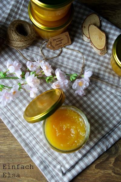 Mango-Birnen-Konfitüre
