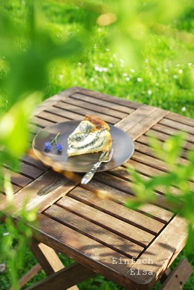 Mohnquarkkuchen mit Mürbeboden