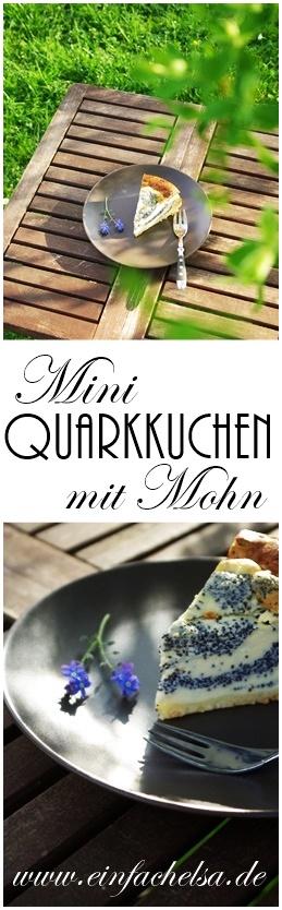 Quarkkuchen mit Mohn und Mürbeteigboden