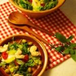 {Herzhaft} Salat mit Basilikum Vinaigrette