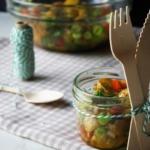 {Herzhaft} Salat von Ofenkartoffeln