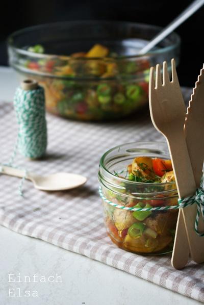 Salat-von-Ofenkartoffeln