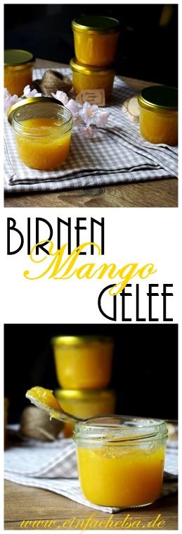 Schnelle Mango Birnen Marmelade