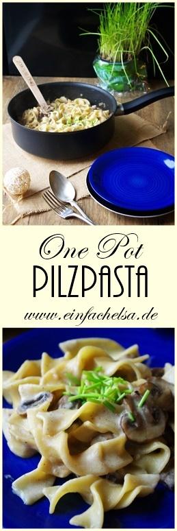 Schnelle und einfache Pilzpasta mit Champignons als Feierabendrezept #pilze #pasta #feierabendrezept