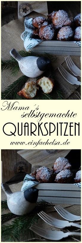 Selbstgemachte Quarkspitzen mit etwas Zimt - perfekt für Weihnachtsstimmung