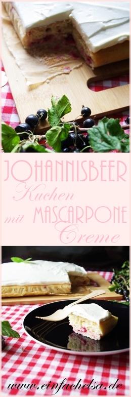 Selbstgemachter Johannisbeerkuchen mit Mascarponecreme - Fantakuchen mit Johannisbeeren - Tassenkuchen