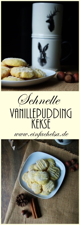 Vanillepuddingkekse ohne Puding kochen - ganz schnell und einfache Plätzchen mit nur 4 Zutaten