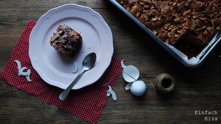 Vollkorn-Kuchen-Apfel-Marzipan