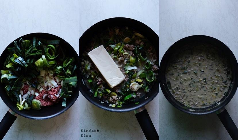 Zubereitung Käse Lauch Suppe