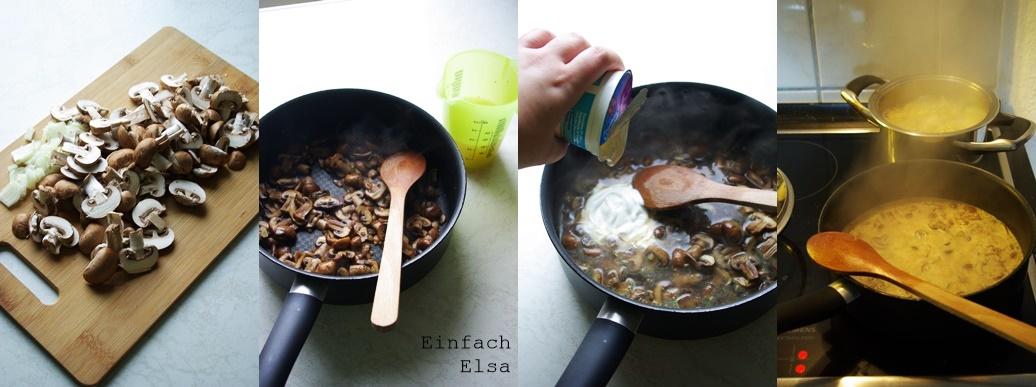 Zubereitung-Pilzpasta
