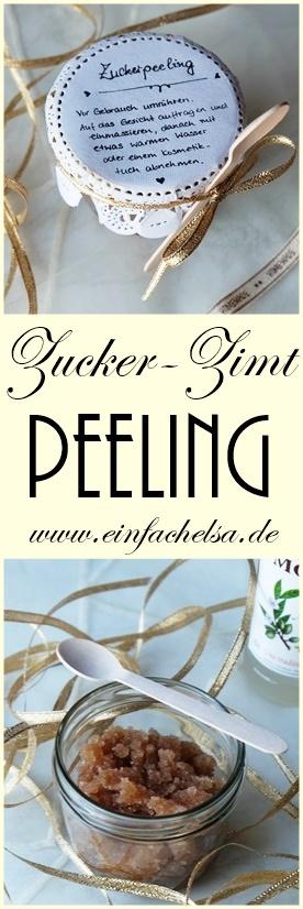 Zucker-Zimt-Peeling selbst gemacht als tolles Geschenk für den Valentinstag oder andere Anlässe