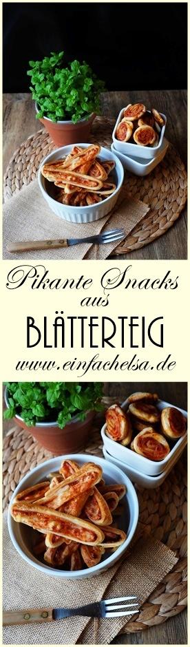 Zweierlei pikante Snacks aus Blätterteig mit Sambal Oelek