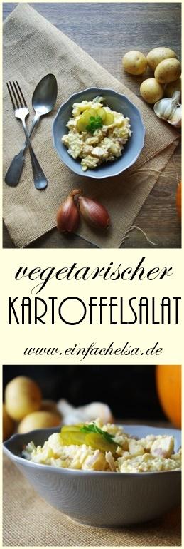 vegetarischer Kartoffelsalat für Weihnachten oder zum Grillen als Beilagensalat